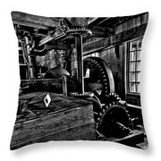 Old Time Gears Throw Pillow