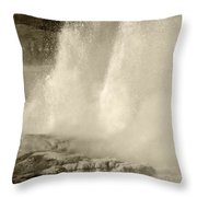 Old Time Geyser Throw Pillow