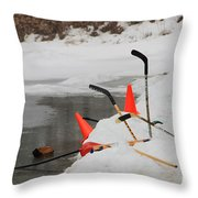 Old Time Hockey 1 Throw Pillow