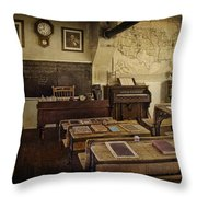 Old Time Learning Throw Pillow