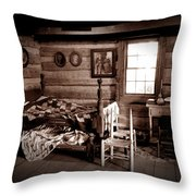 Old-time Living Throw Pillow
