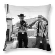 Old Time Musicians Bw Throw Pillow