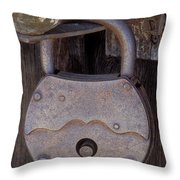 Old Time Padlock Throw Pillow