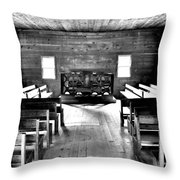 Old Time Religion -- Cades Cove Primitive Baptist Church Throw Pillow by Stephen Stookey