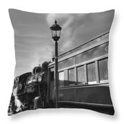 Old Time Steam Throw Pillow