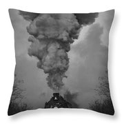 Old Time Steam Locomotive Throw Pillow