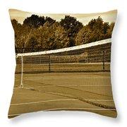 Old Time Tennis Throw Pillow