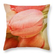 Old Time Tulips Throw Pillow