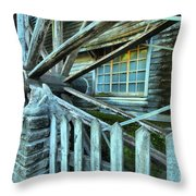 Old Time Wheels Throw Pillow