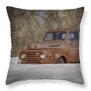 Old Timer In Color Throw Pillow