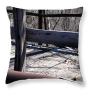 Old Timey Foot Bridge Throw Pillow
