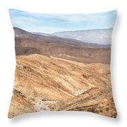 Old Toll Road Landscape In Death Valley Throw Pillow
