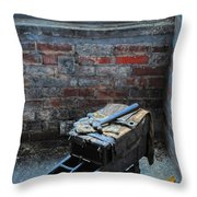 Old Tool Box Lonaconing Silk Mill Throw Pillow