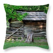 Old Tool Shed Throw Pillow