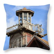 Old Tower Throw Pillow