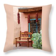 Old Town Albuquerque Shop Window Throw Pillow