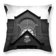 Old Town Alexandria Townhomes B W Throw Pillow