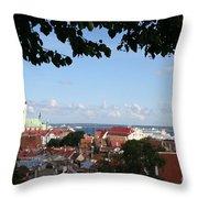 Old Town And Harbor - Tallinn Throw Pillow