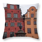 Old Town Architecture Throw Pillow