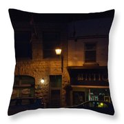 Old Town At Night Throw Pillow
