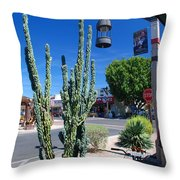 Old Town Cactus Throw Pillow
