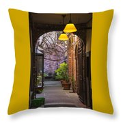 Old Town Courtyard In Victoria British Columbia Throw Pillow