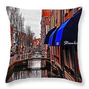 Old Town Delft Throw Pillow