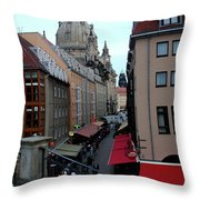 Old Town Dresden Throw Pillow