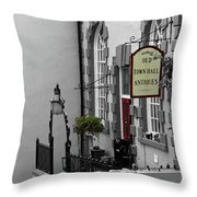 Old Town Hall Throw Pillow