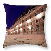 Old Town In Stockholm At Night Throw Pillow