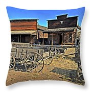 Old Town Mainstreet Throw Pillow by Marty Koch