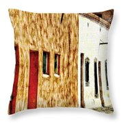 Old Town New Mexico Throw Pillow