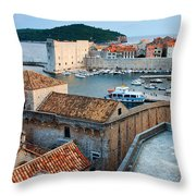 Old Town Of Dubrovnik Throw Pillow