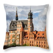 Old Town Of Gdansk In Poland Throw Pillow