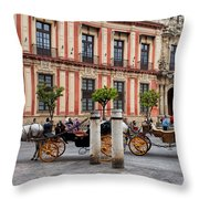 Old Town Of Seville In Spain Throw Pillow