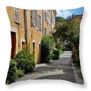 Old Town Of Valbonne France  Throw Pillow