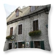 Old Town Quebec Canada Throw Pillow