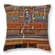 Old Town Saloon Throw Pillow