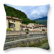 Houses And Roofs Throw Pillow