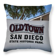 Old Town San Diego State Historic Park Throw Pillow