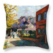 Old Town Sedona Throw Pillow