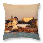 Old Town With Lambertus Church Throw Pillow