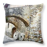 Old Towns Of Tuscany San Gimignano Italy Throw Pillow