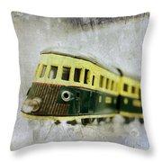 Old Toy-train Throw Pillow