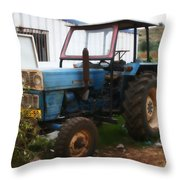Old Tractor I Throw Pillow