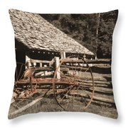 Old Vintage Antique Tractor In Appalachia Throw Pillow