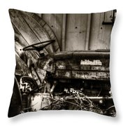 Old Tractor - Series Xv Throw Pillow