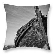 Old Traditional Tagus River Sailboat Throw Pillow