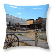 Old Trail Town   Throw Pillow