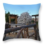 Old Trail Town -  Wyoming Throw Pillow